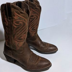 Ariat Women's Round Up Cowgirl Boots  Size 6.5B